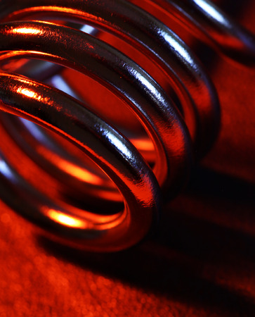Close up of a heating coil element photo