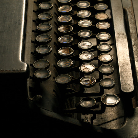 Close up of an Old Typewriter photo