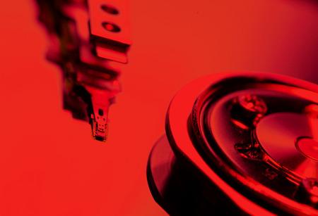 ide: Close Up of a hard disk drive internals