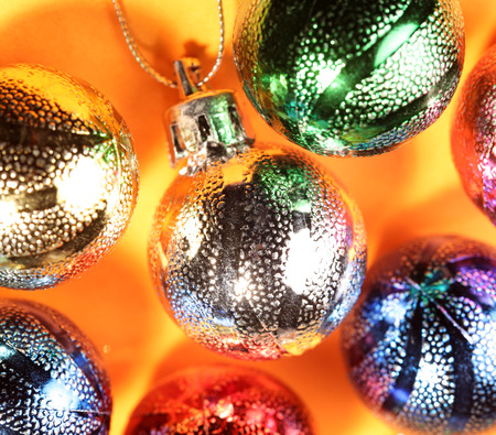 Close up of Christmas decorations photo