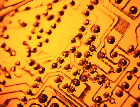 ic: Close up of an electronic circuit board