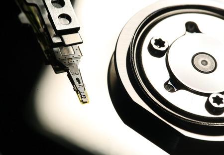 computer software: Close Up of a hard disk drive internals