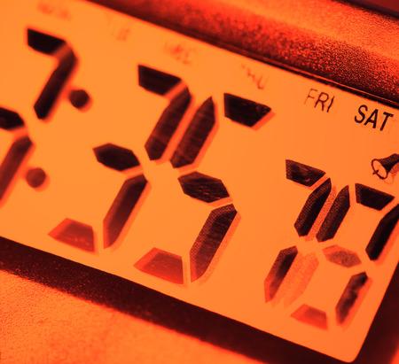 Close up of a Digital clock photo