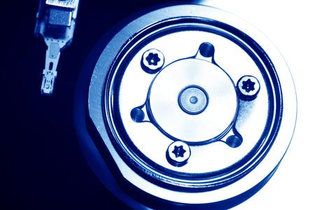 internals: Close Up of a hard disk drive internals