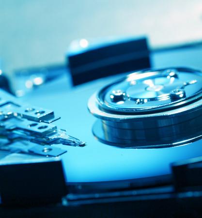 terabyte: Close Up of a hard disk drive internals