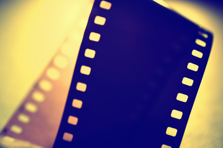 35 mm: Close up of 35 mm movie Film