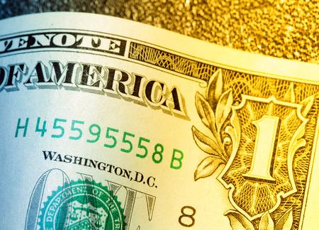 bankroll: Close up of US dollar