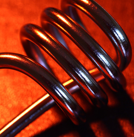 Close up of a heating coil element
