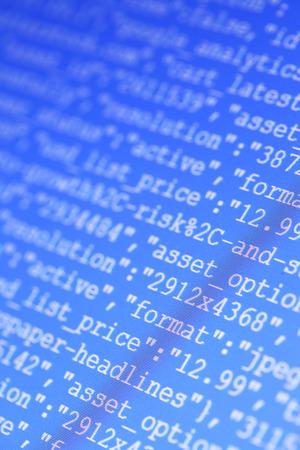 screenshot: Close up of HTML codes on LED screen