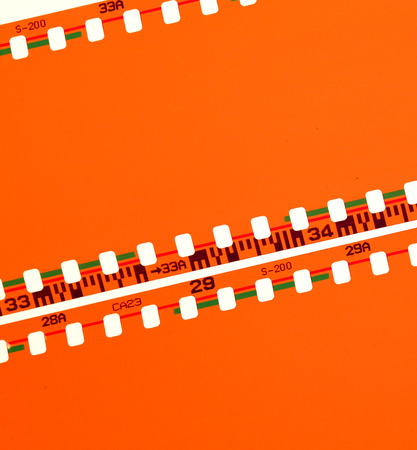 halide: Close up of Old Negative films
