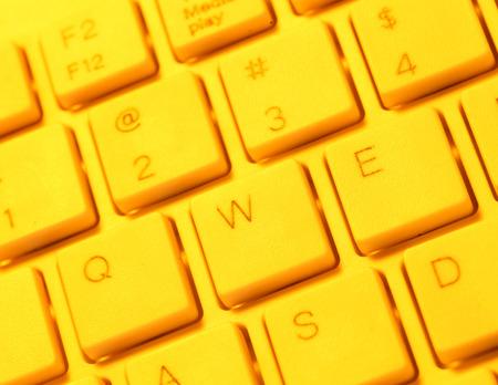 Close up of a computer keyboard Stock Photo