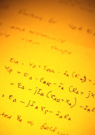 formulation: Close up of mathematical background Stock Photo