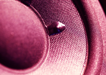 auditory: Closeup at moving sub-woofer