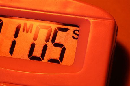 Close up of a Digital timer clock photo