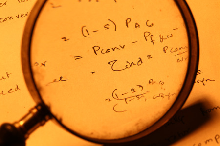 Close up of a mathematical background