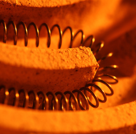 stove pipe: Close up of a heating coil element Stock Photo