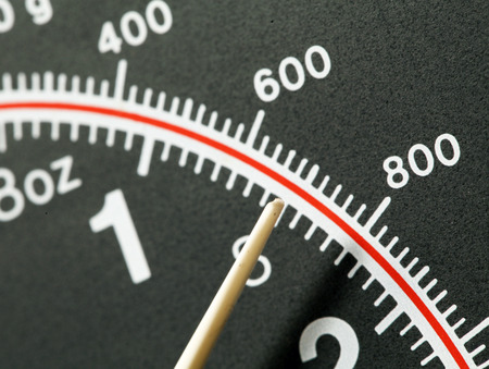 Close up of a modern scale photo