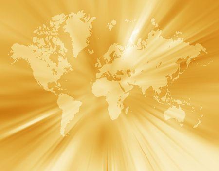 World map,2D digital art Redactioneel