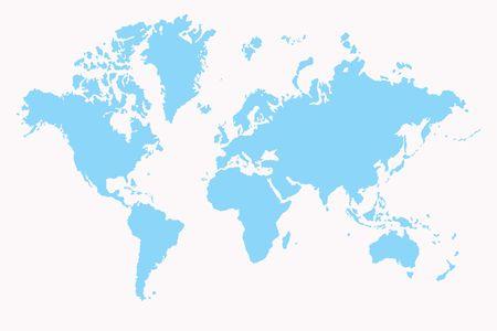 World map ,2D art