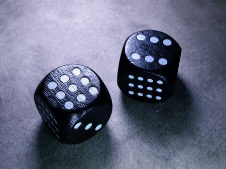 Macro Close up of classic Dice cubes