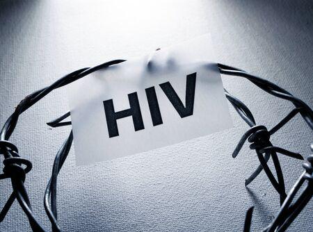 Global HIV threat and warning Stockfoto