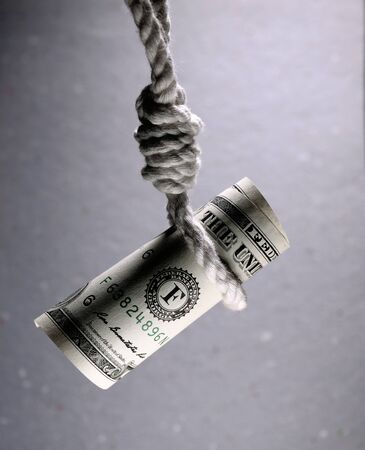 Shot about Decrease in money value and financial risk Archivio Fotografico