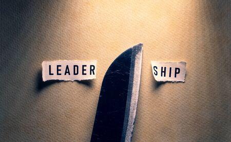 No leadership label tag close up Stockfoto
