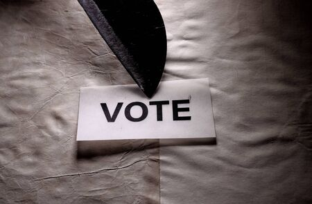 Close up of a Vote tag