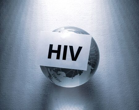 Global HIV threat and warning Stock Photo