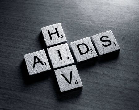 HIV word in  letters