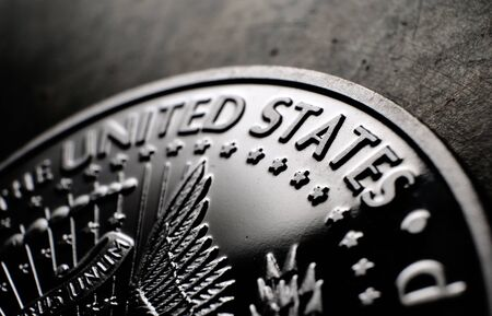 Detailed Macro close up of a coin Stockfoto - 126702823