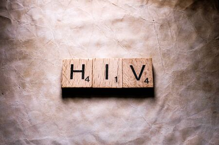 HIV word in  letters Stockfoto - 126437282