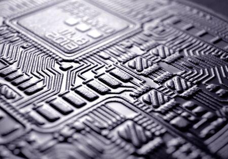 Macro Close up of a bit coin Stockfoto - 126662922