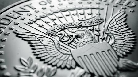 Detailed Macro close up of a coin
