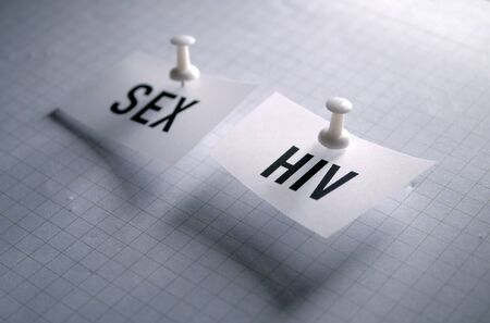 Sex and HIV infection relationship Stockfoto - 126437527