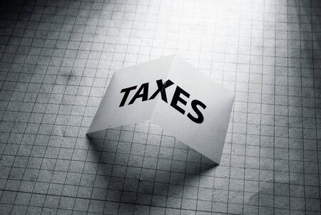 Close up of a Tax tag on paper Stockfoto