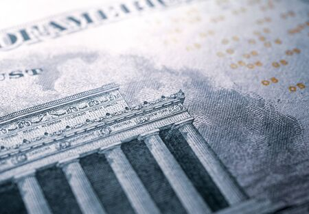 Close up U.S. dollar currency Stockfoto