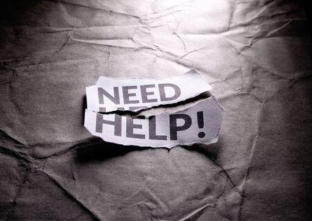 Close up shot of Need Help tag
