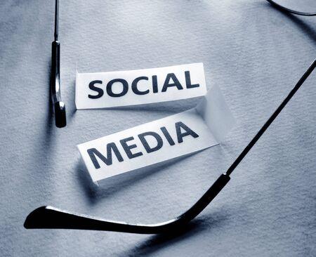 Close up of a Social media tag label