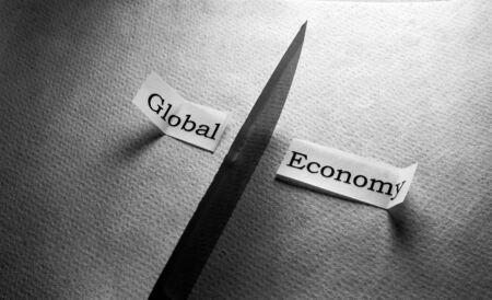 Tab label depicting global economy crash