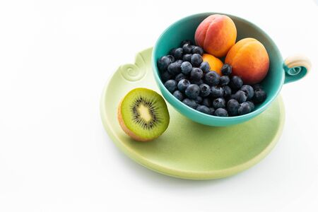 Bowl with fresh fruits
