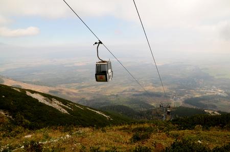 Cableway from Tatranska Lomnica to Lomnica Lake, High Tatras Mountain, Slovakia