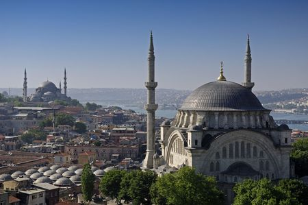 hagia: hagia sophia and blue mosque, istanbul Stock Photo