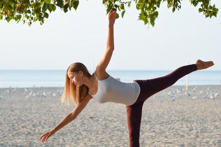 Balance at the beach