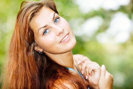 Close-up d'une jeune femme
