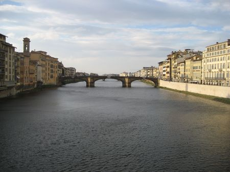 arno: wide view of arno river Stock Photo