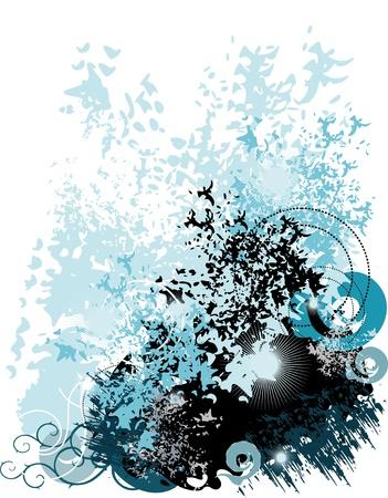 pring: Urban background theme Illustration