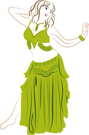 bellydancer: Bellydancer woman Illustration