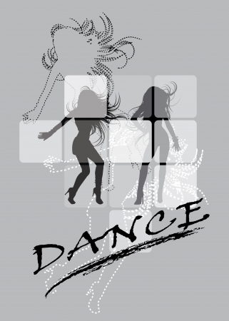 line dance: Dancing silhouette