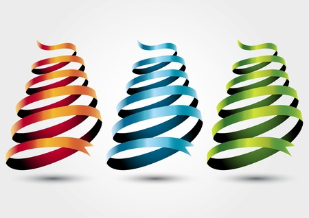 three colored: Three colored ribbon